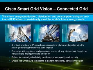 Cisco Smart Grid Vision – Connected Grid