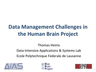 Data Management Challenges in the Human Brain Project