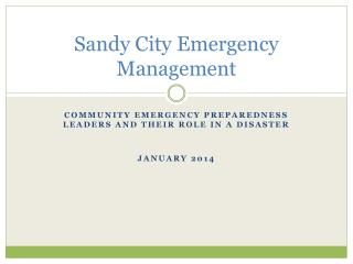 Sandy City Emergency Management