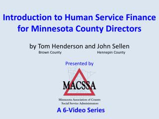 Introduction to Human Service Finance for Minnesota County Directors