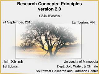 Research  Concepts: Principles version 2.0