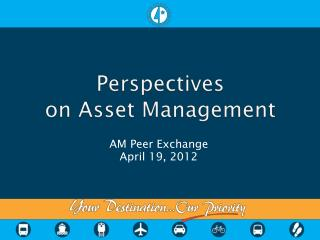 Perspectives  on Asset Management