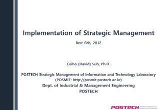 Implementation of Strategic Management