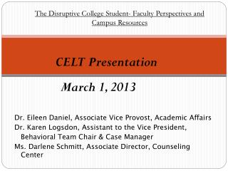 CELT Presentation March 1, 2013
