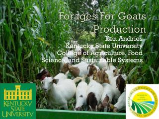 Forages  For  Goats Production