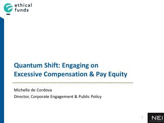 Quantum Shift: Engaging on  Excessive Compensation & Pay Equity
