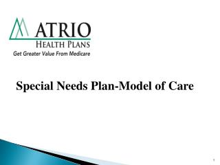 Special Needs Plan-Model of Care