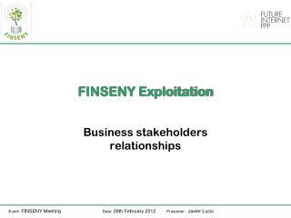 FINSENY  Exploitation