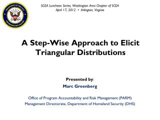 A Step-Wise Approach to Elicit Triangular Distributions