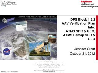 IDPS Block 1.5.2  AAV Verification Plan Info:  ATMS SDR & GEO, ATMS Remap SDR & GEO