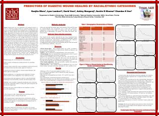 PREDICTORS OF DIABETIC WOUND HEALING BY RACIAL/ETHNIC CATEGORIES