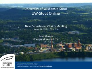 New Department Chair's Meeting August 30, 2013 - 2:00 to 2:30