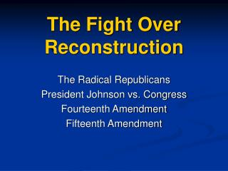 the fight over reconstruction