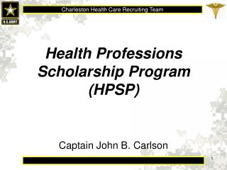 Health Professions Scholarship Program (HPSP)