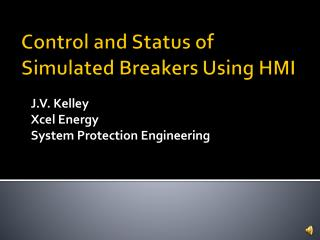 Control and Status of Simulated Breakers Using HMI