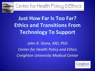 Just How Far Is Too Far? Ethics and Transitions From Technology To Support