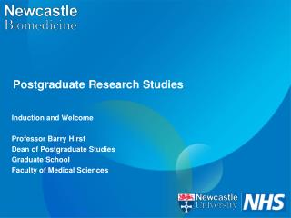 Postgraduate Research Studies