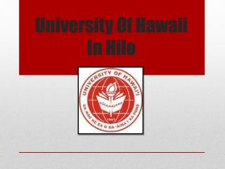 University Of Hawaii In Hilo
