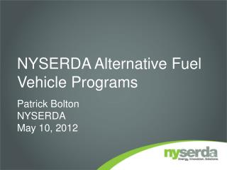 NYSERDA Alternative Fuel Vehicle Programs