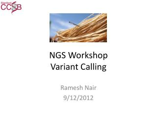 NGS Workshop Variant Calling