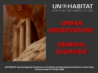 un-habitat second regional conference on creativity and development initiatives in arab cities, amman-jordan 27-29 april