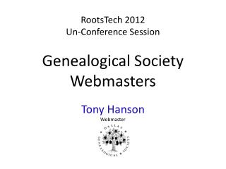 Genealogical Society Webmasters