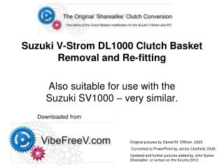 Suzuki V-Strom DL1000 Clutch  Basket  Removal and Re-fitting