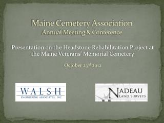 Maine Cemetery Association Annual Meeting & Conference