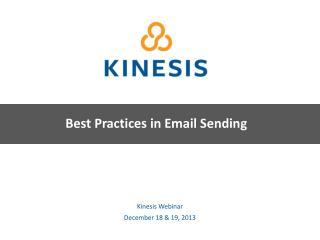 Kinesis Webinar December 18 & 19, 2013