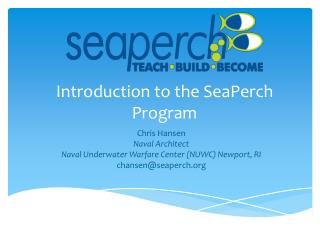 Introduction to the SeaPerch Program