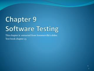 Chapter  9 Software Testing