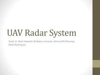 UAV Radar System