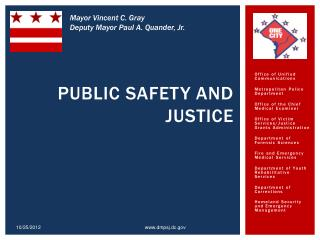 Public Safety and Justice