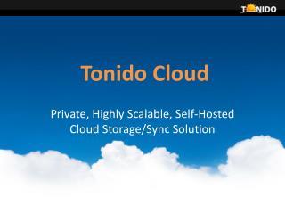 Tonido Cloud