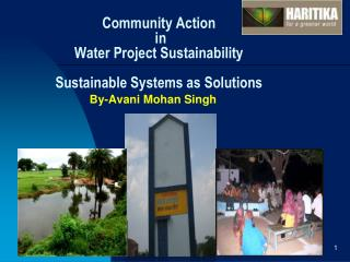 Community Action in Water Project Sustainability Sustainable Systems as Solutions