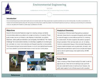 Environmental Engineering Sam Foster scj36@ wildcats.unh.edu; Parsons Hall, 23 Academic Way, Durham NH 03824