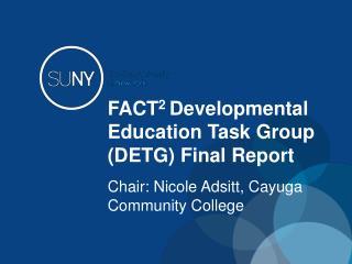 FACT 2  Developmental Education Task Group (DETG)  Final Report