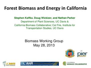 Biomass Working Group May 28, 2013