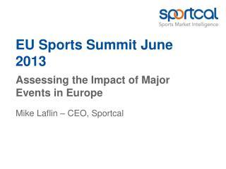 EU Sports  Summit  June 2013