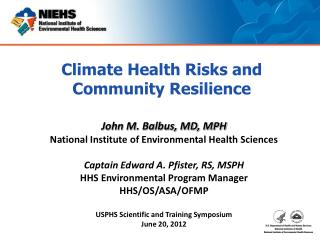 Climate Health Risks and Community Resilience