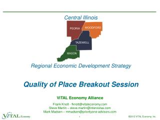 Central Illinois Regional Economic Development Strategy Quality of Place Breakout Session
