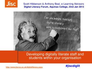 Developing digitally literate staff and students within your organisation