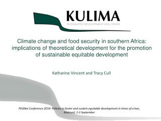 Climate change and food security in southern Africa: implications of theoretical development for the promotion of susta