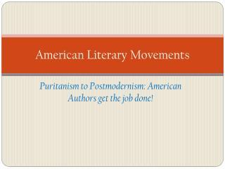 American Literary Movements