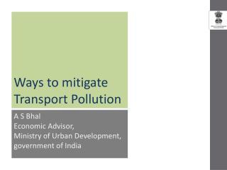 Ways to mitigate Transport Pollution