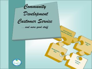Community  Development Customer Service ...and more good stuff