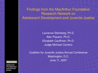 findings from the macarthur foundation research network on ...