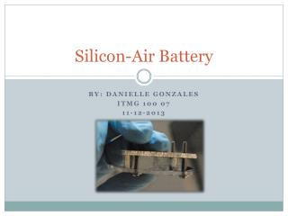 Silicon-Air Battery