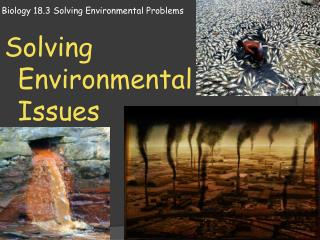 Biology 18.3 Solving Environmental Problems