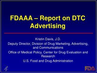 fdaaa   report on dtc advertising